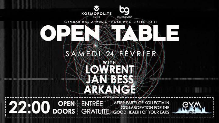 Open Table : Kosmopolite vs Beatsguru