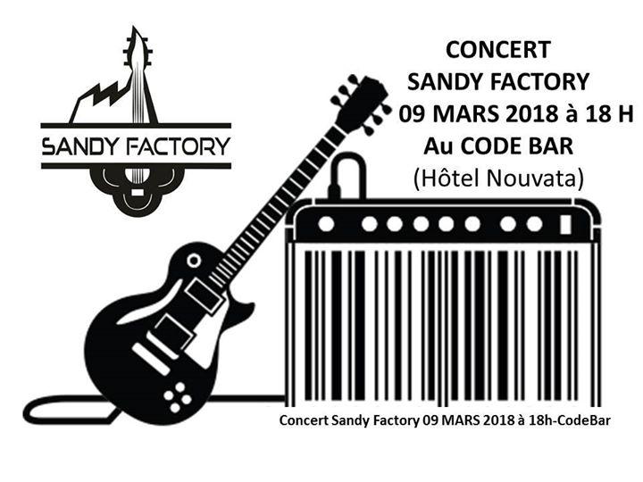 Concert SANDY FACTORY Code Bar